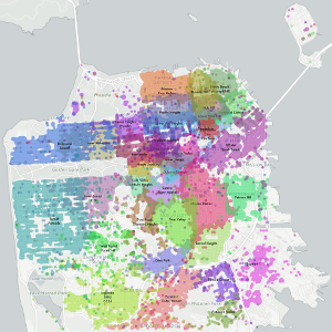 Map of neighborhoods as tagged by inhabitants